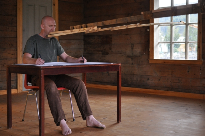 Dominic Thorpe, Performance, Nordic Arts Centre 2013, Image taken by Arild H. Eriksen..